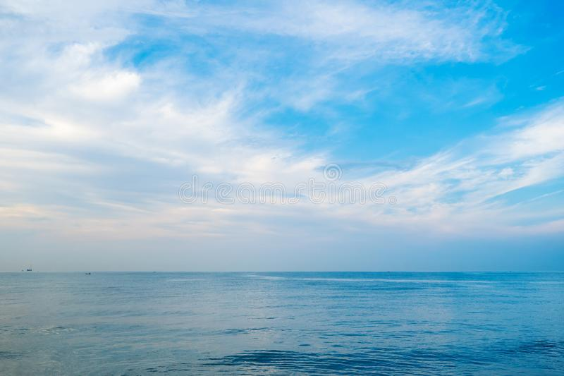 Blue sea and sky in morning royalty free stock image