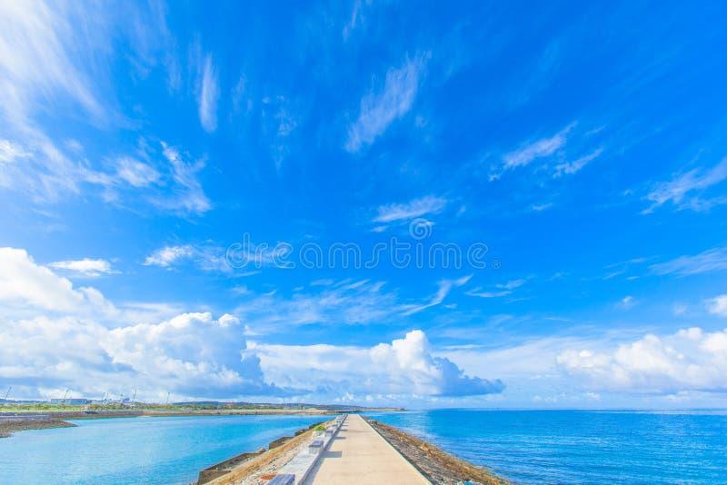 Blue sea and sky royalty free stock photos