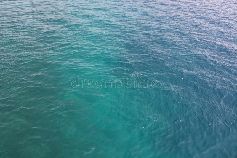 Blue sea water blurred ripple background. Aegean Sea, Turkey royalty free stock images