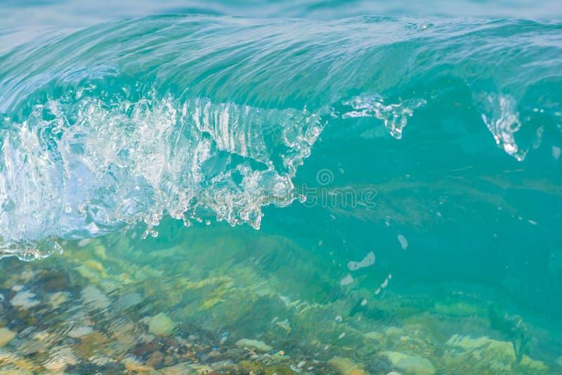 Blue sea wave crashing. Nature background. Travel concept.  royalty free stock image