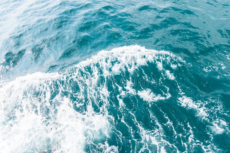 Blue sea waves abstract stock photo