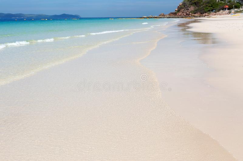 Blue sea waves summer background. Sand beach stock images