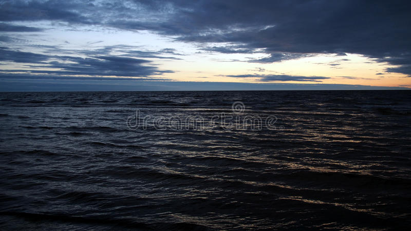 Blue sea and waves stock photos