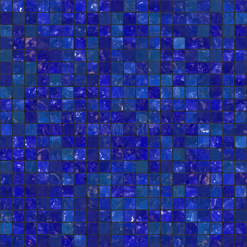 Blue Seamless Bathroom Tiles. Blue bathroom tiles pattern that tile seamlessly as a pattern royalty free illustration