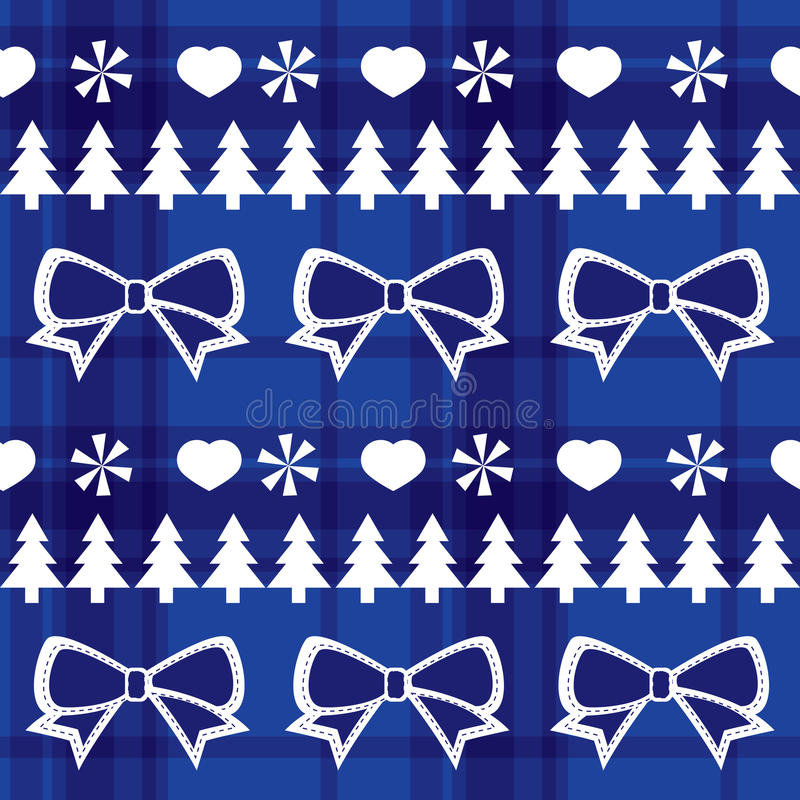 Download Blue Seamless Christmas Pattern Royalty Free Stock Photos - Image: 27087658
