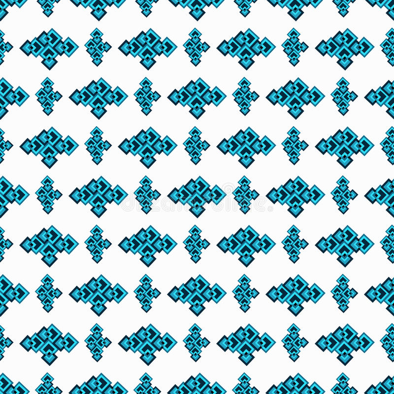 Blue seamless geometric pattern on a white background vector illustration