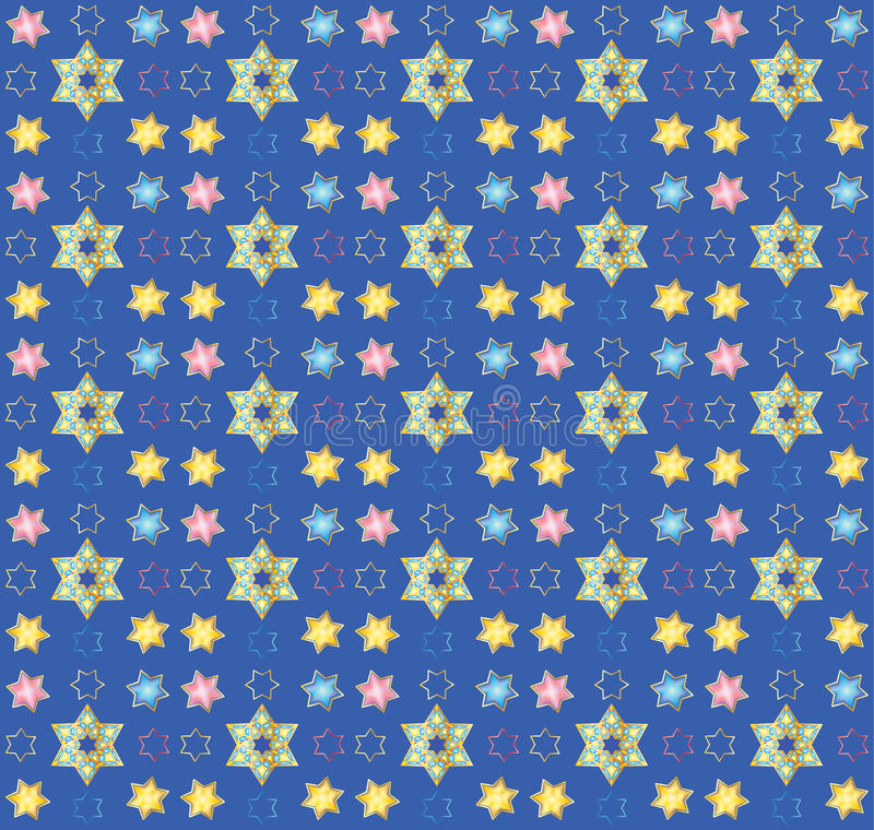Blue seamless oriental pattern royalty free illustration