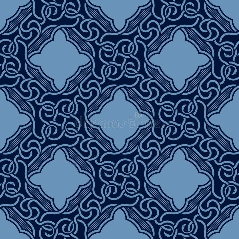 Blue seamless ornament stock illustration