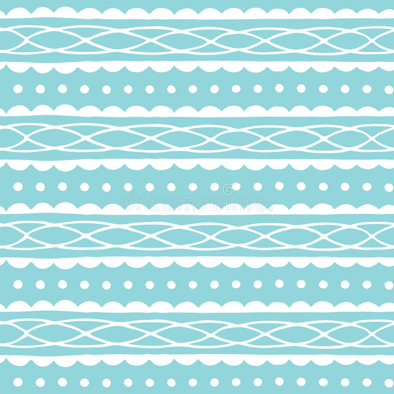 Blue seamless pattern with abstract ornament. Hand drawn texture. Vector illustration. vector illustration
