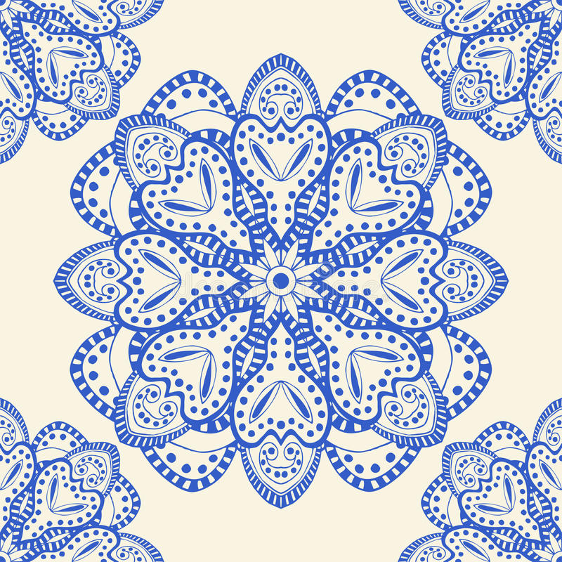 Blue seamless pattern stock illustration