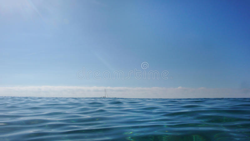 Blue seascape stock photos