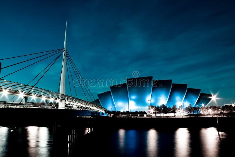 Blue SECC & Bells Bridge royalty free stock photos