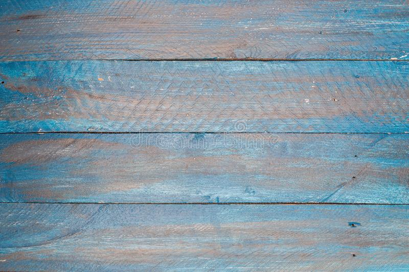 Blue shabby chic wood retro vintage background texture.  royalty free stock photo