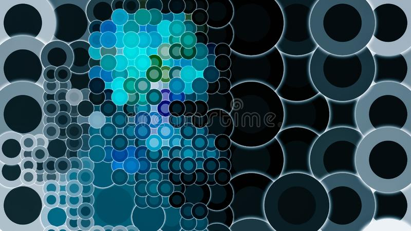 Blue shades circular dark night color templates royalty free stock photos