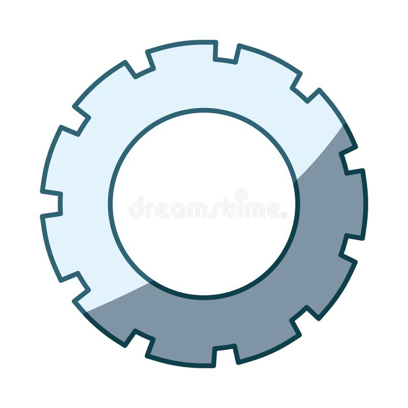 Blue shading silhouette of pinion model three. Vector illustration stock illustration