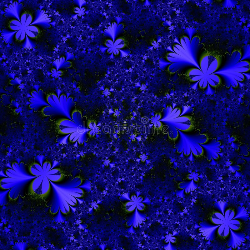 Blue Shapes In Space Stock Image