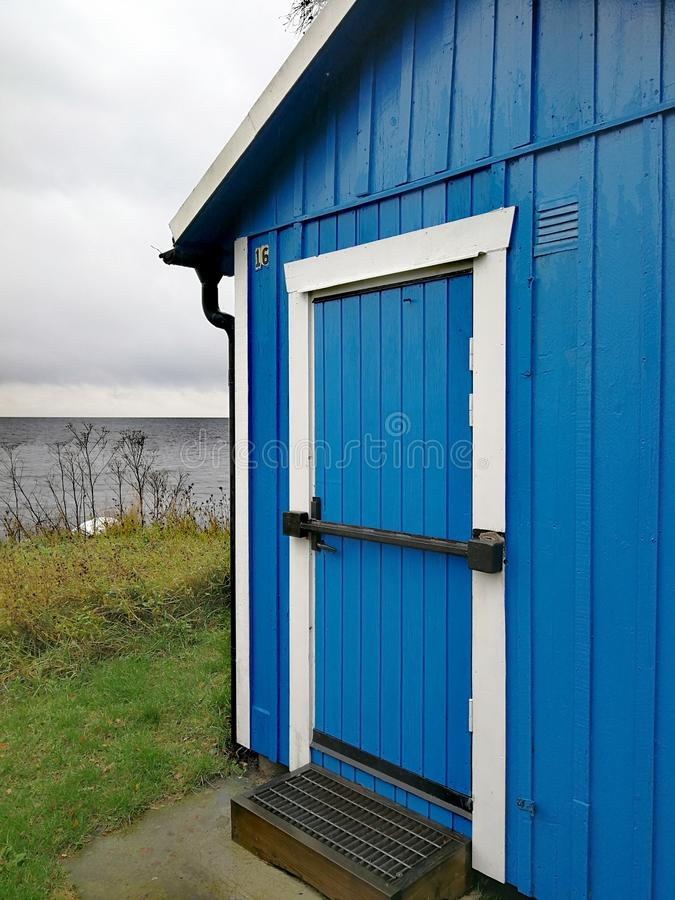 Blue, Shed, House, Door royalty free stock images