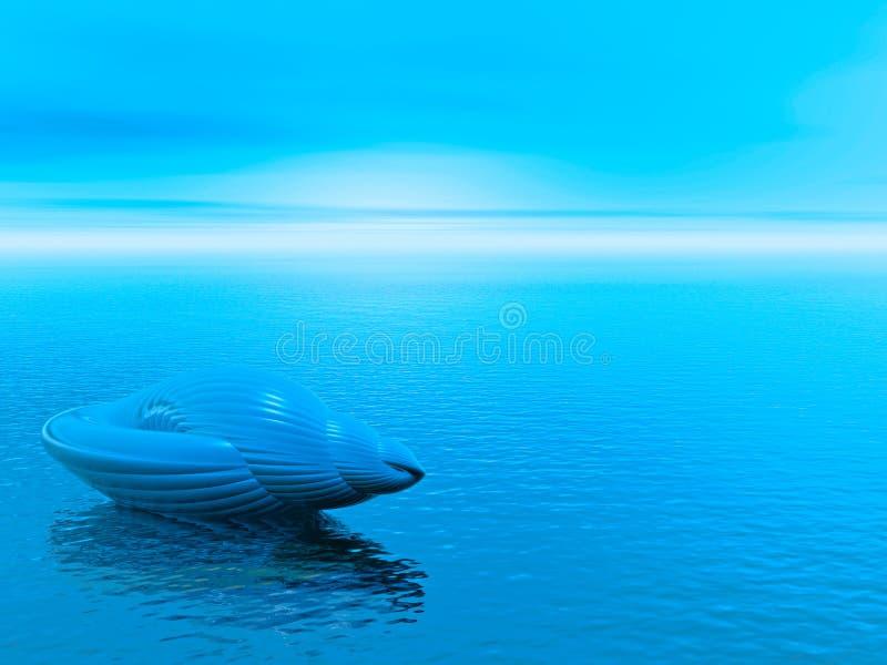 Blue shell royalty free illustration