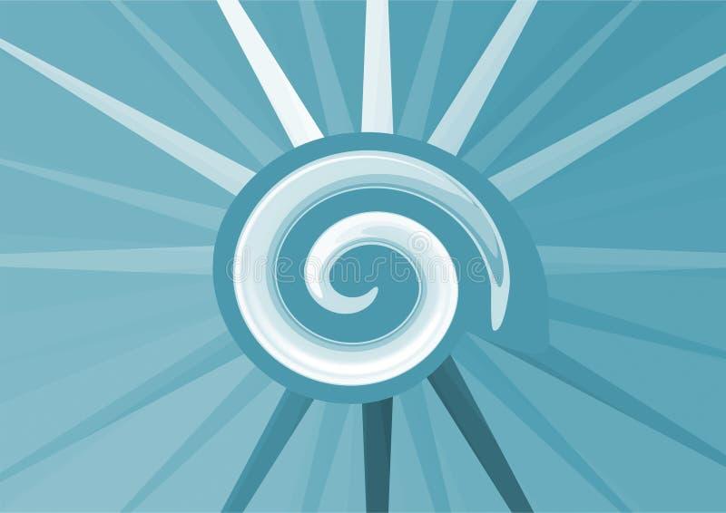 Download Blue shell stock illustration. Image of sand, aquatic - 25754163