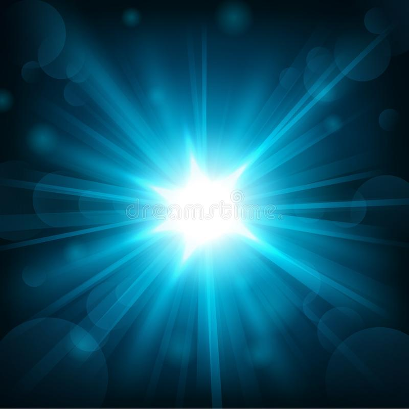 Free Blue Shine With Lens Flare Background Royalty Free Stock Image - 66981516
