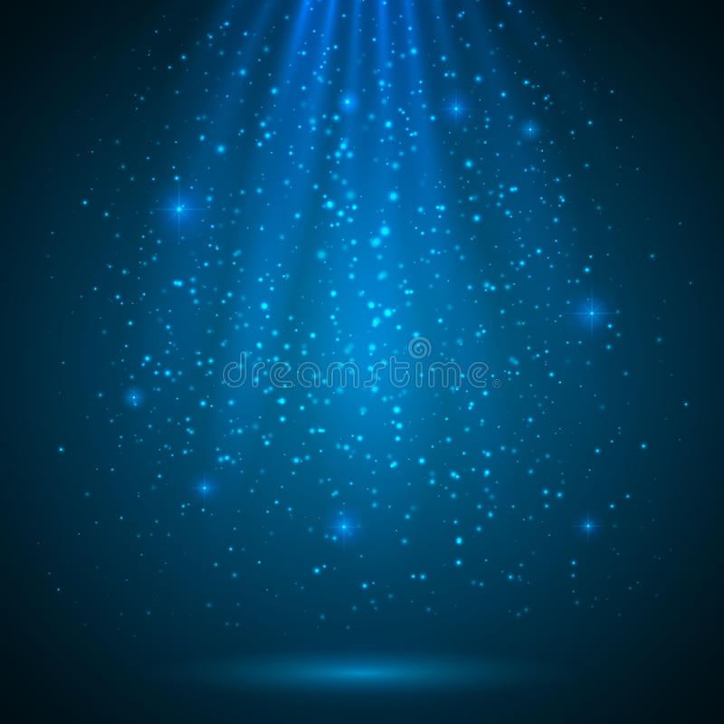Free Blue Shining Magic Light Vector Background Royalty Free Stock Photography - 31804057