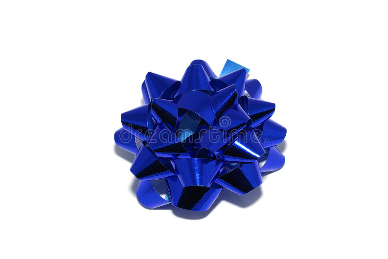 Blue shiny bow