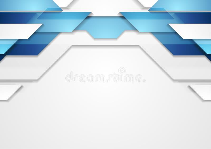 Blue shiny hi-tech abstract background vector illustration