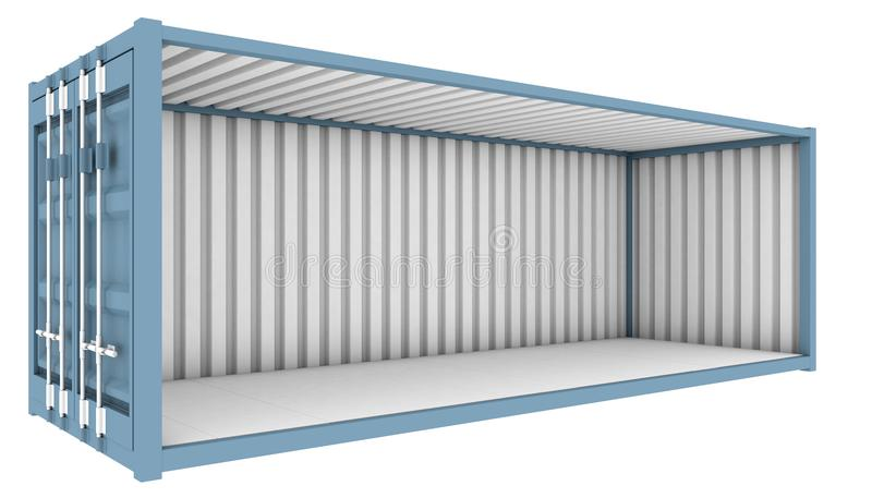 Shipping Container Cutaway royalty free illustration