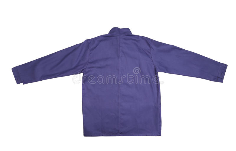 Blue shirt back view royalty free stock images