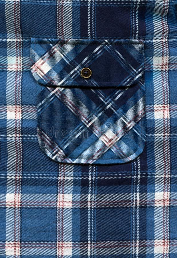 Blue shirt pocket and buttons stock images