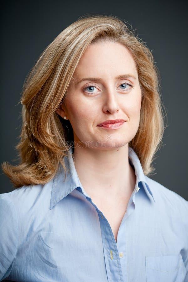 Blue Shirt Portrait Stock Image