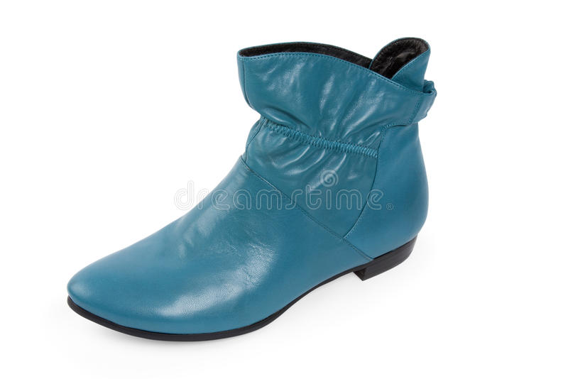 Blue shoe stock photo