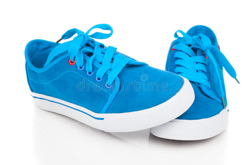 Blue shoes stock image
