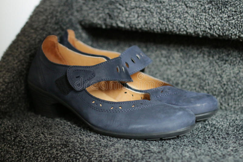 Blue shoes stock photo