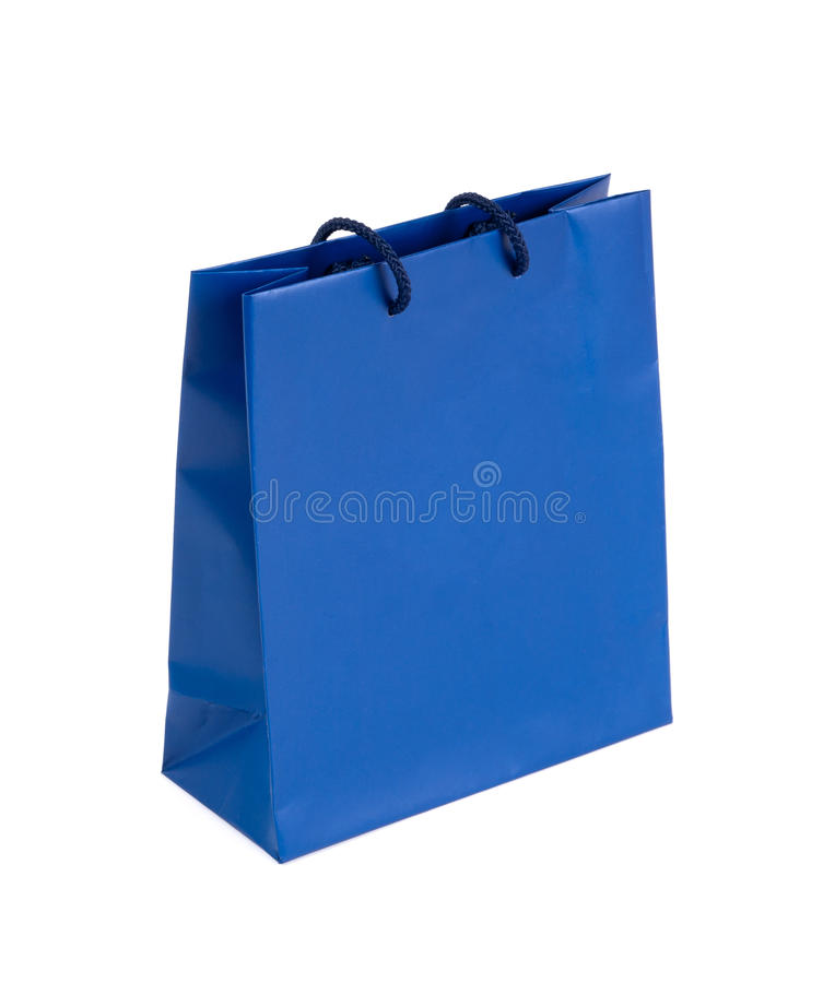 Free Blue Shopping Bag Royalty Free Stock Images - 16314809
