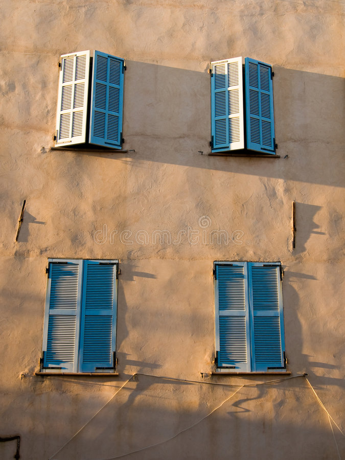 Blue Shutters Royalty Free Stock Photo