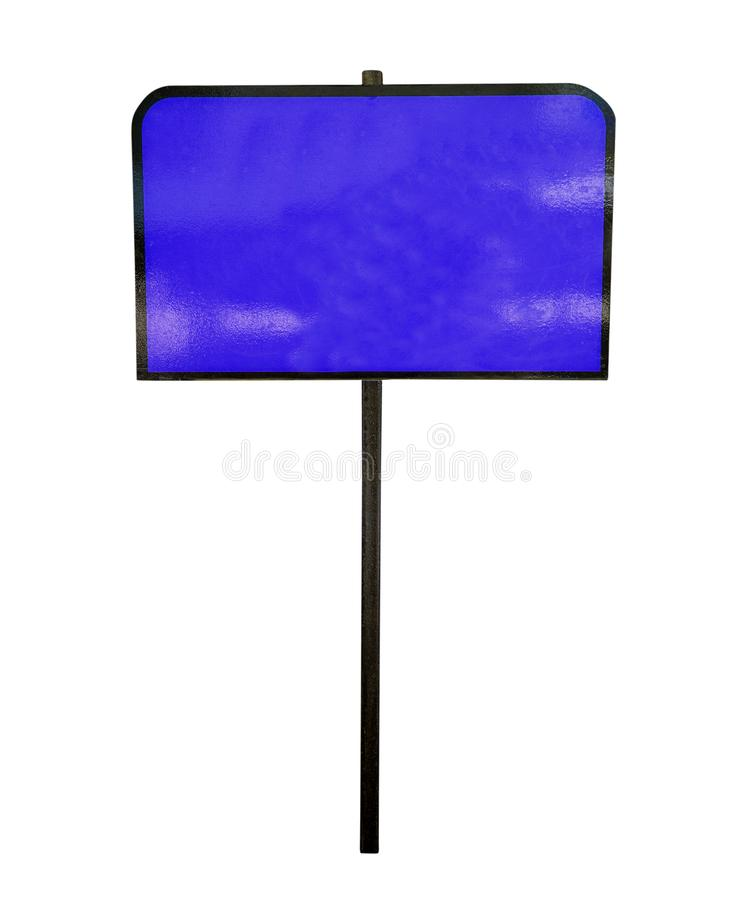 Blue sign or post royalty free stock images