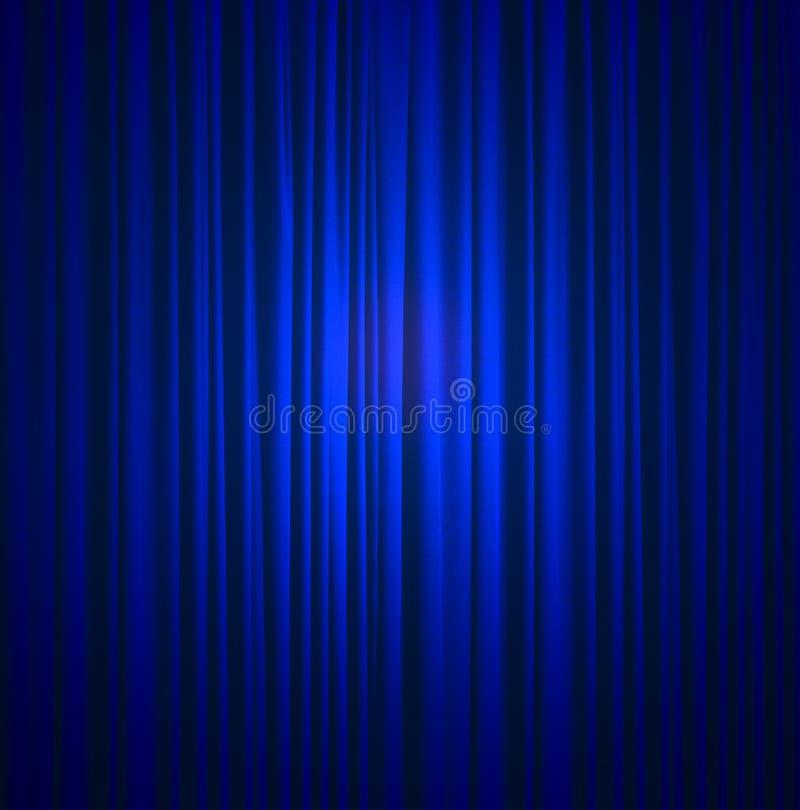 Blue silk curtain background. Blue silk fabric curtain background stock photos