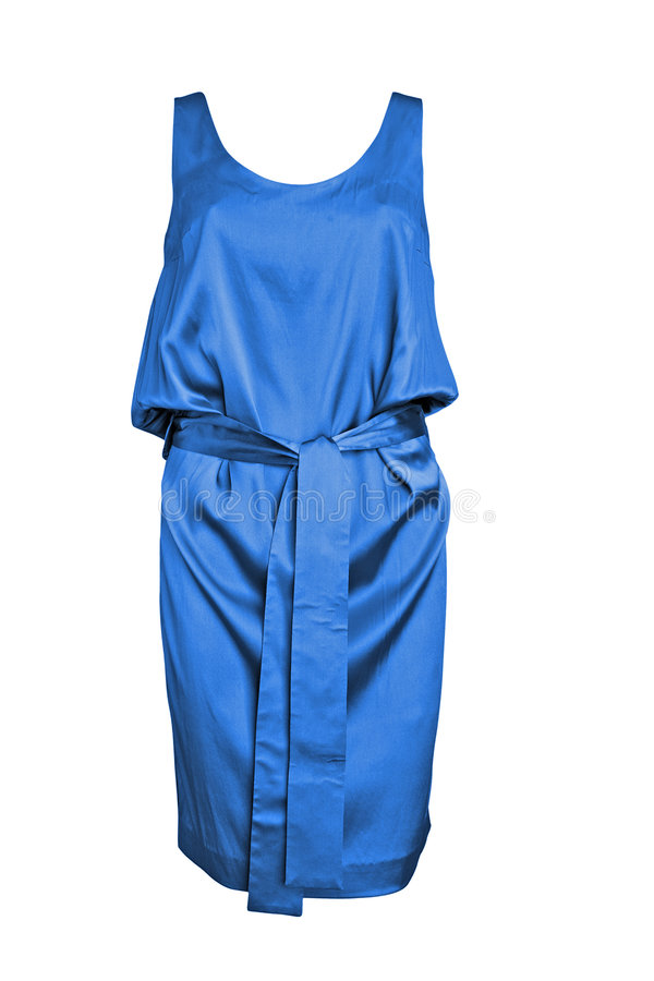 Blue silk summer dress royalty free stock photos