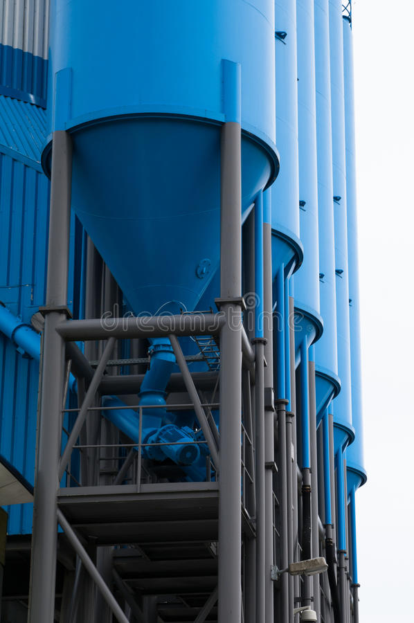 Blue Silo For Storage Royalty Free Stock Image