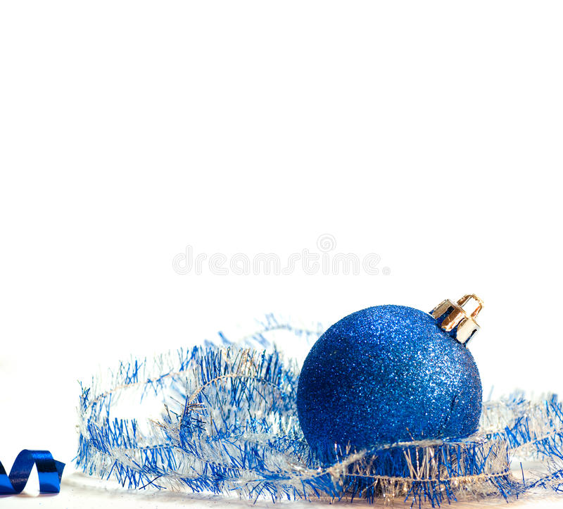 Blue and silver Christmas background stock photo