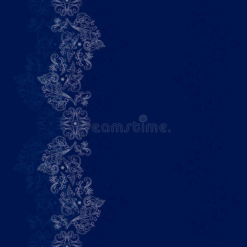Download Blue Silver Floral Vintage Seamless Pattern Stock Vector - Illustration of arabic, rococo: 29063725