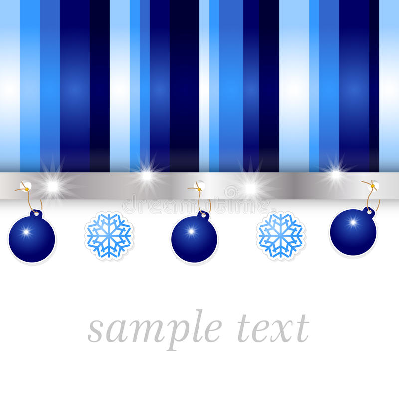 Blue and silver glossy background royalty free illustration