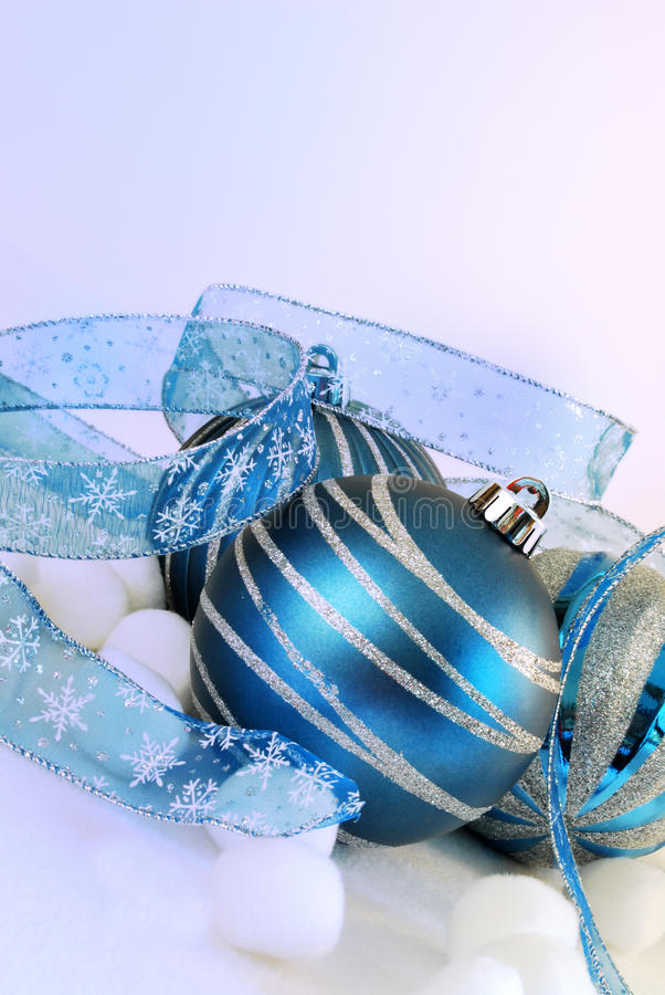 Blue and Silver Holiday stock photo