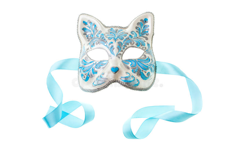 Blue and silver mask stock photos