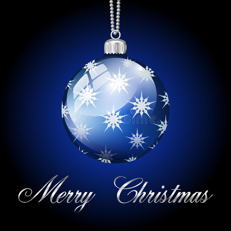 Free Blue Silver Merry Christmas Ball Royalty Free Stock Image - 37083026