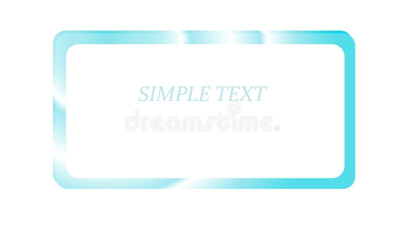 Blue silver metallic shiny radiant frame with overflows, ebbs abstract cosmic magical magical beautiful unusual on a white backgro royalty free illustration