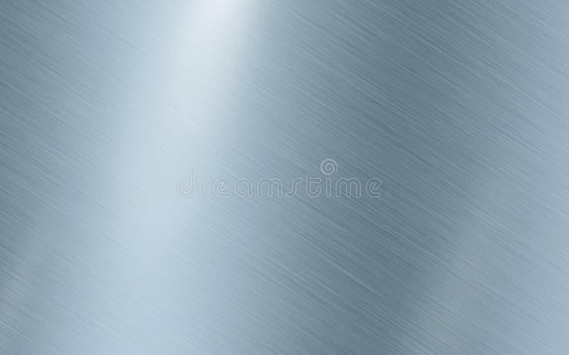 Blue silver metallic texture background Stainless steel illustration vector illustration