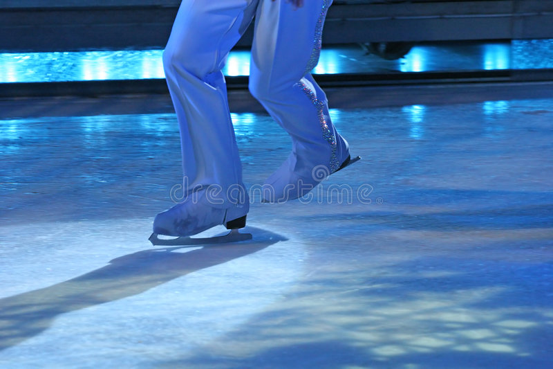 Blue Skates royalty free stock image