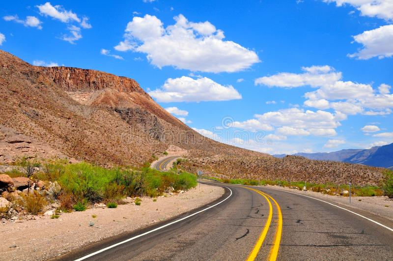 Blue skies and open highway royalty free stock images